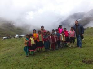 Schulkinder in Ccoluyo, Begünstigte des Projekts